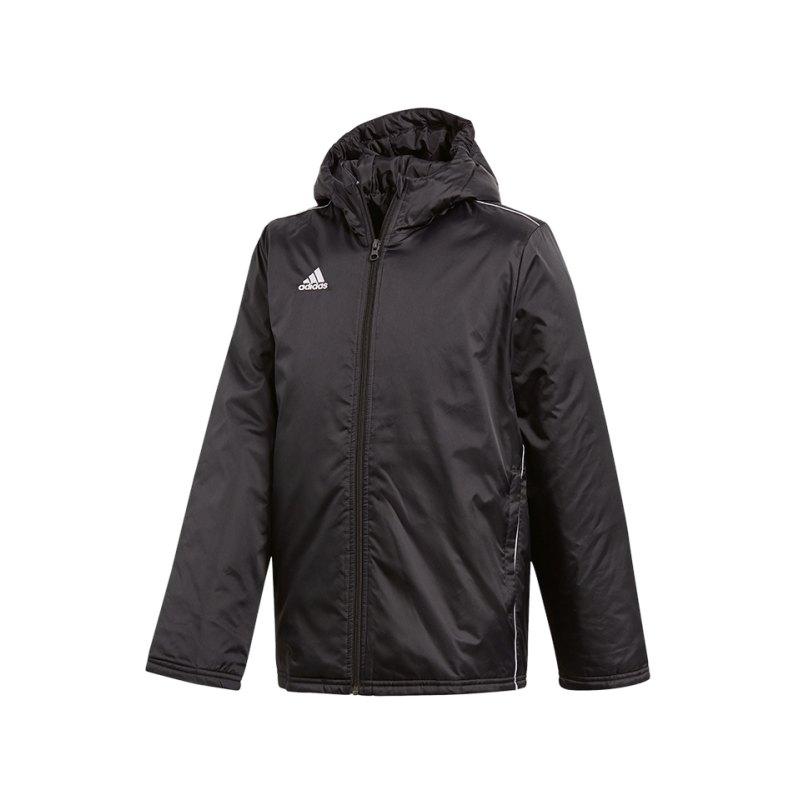 adidas Core 18 Stadium Jacket Jacke Kids Schwarz - schwarz
