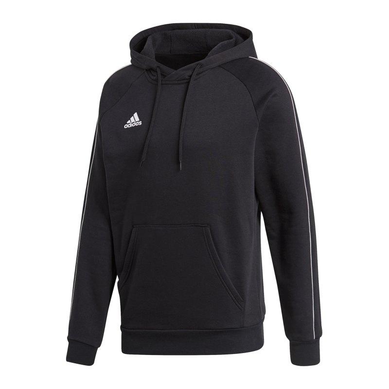 adidas Core 18 Hoody Kapuzensweatshirt Schwarz - schwarz