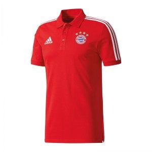 adidas Poloshirt FC Bayern München Weiss - rot