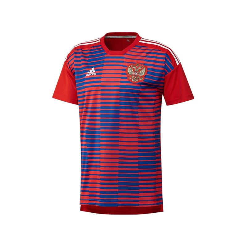 adidas Russland Prematch Shirt Rot Blau - rot