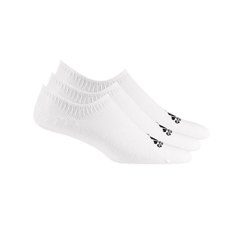 adidas Performance Invisible 3er Pack Socken Weiss - weiss