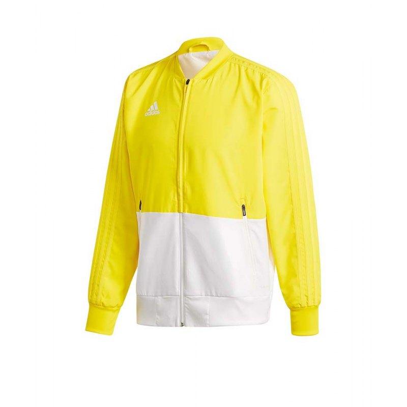 adidas Condivo 18 Präsentationsjacke Gelb Weiss - gelb