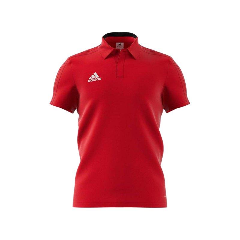 adidas Condivo 18 Cotton Poloshirt Rot Schwarz - rot