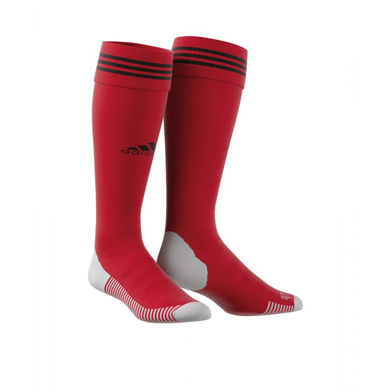adidas Adisock 18 Stutzenstrumpf Rot Schwarz - rot