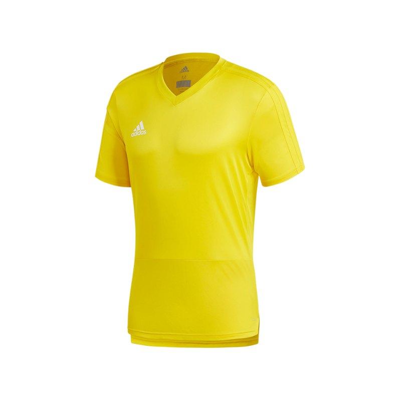 adidas Condivo 18 Training T-Shirt Gelb Weiss - gelb