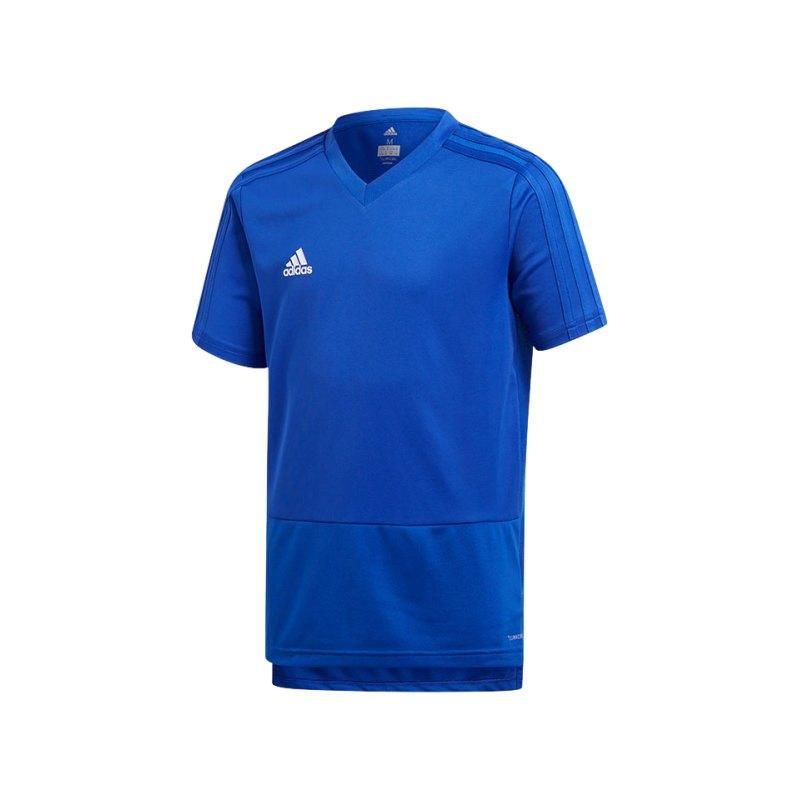 adidas Condivo 18 Training T-Shirt Kids Blau - blau
