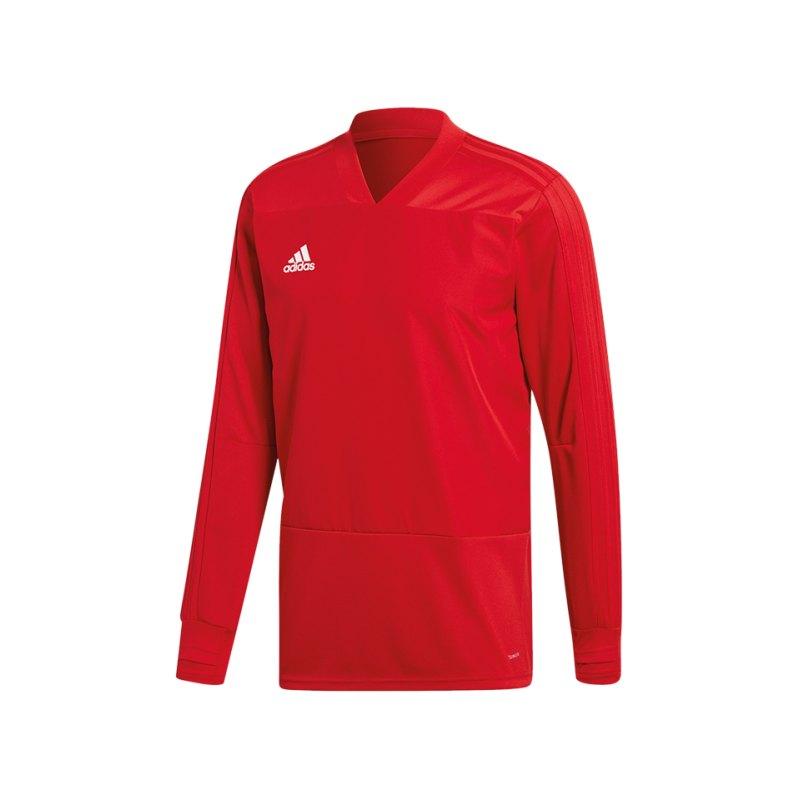 adidas Condivo 18 Sweatshirt Rot Weiss - rot