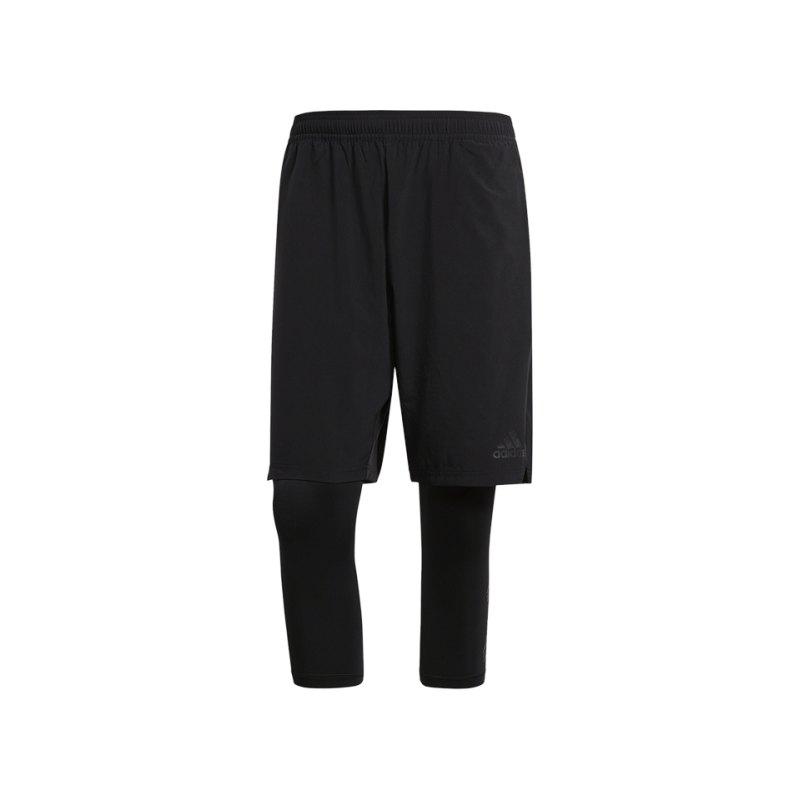 adidas Tango Player Short mit Tight Schwarz - schwarz