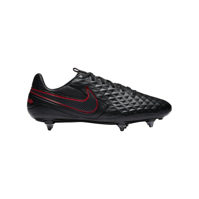 Nike Tiempo Legend VIII Black X Chile Red Pro SG Schwarz F060 - schwarz