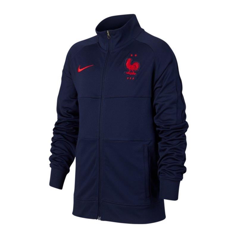 Nike Frankreich I96 Trainingsjacke Kids F498 - blau