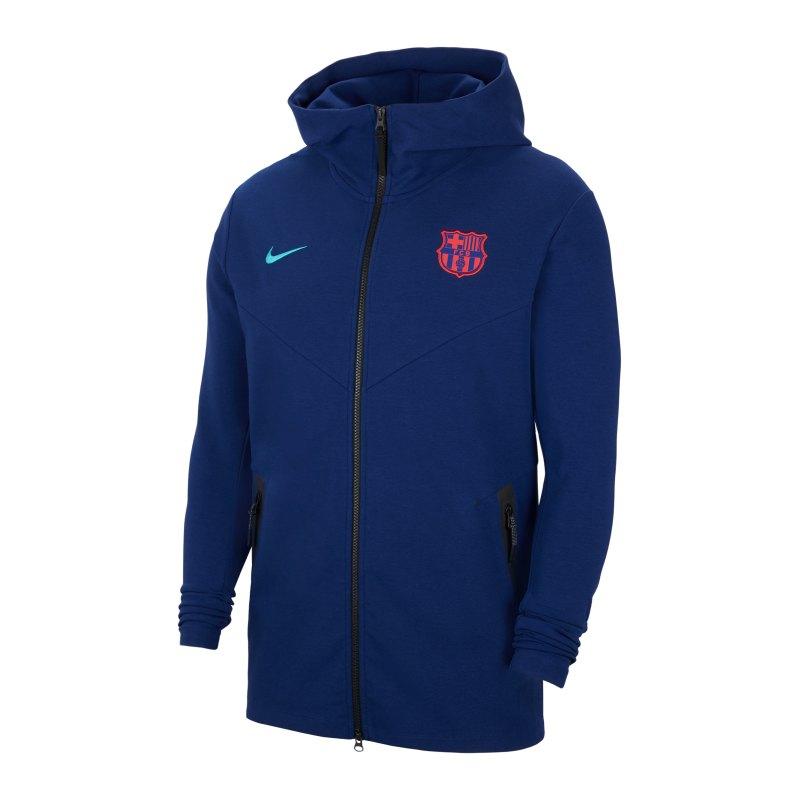 Nike FC Barcelona Tech Pack Kapuzenjacke F492 - blau