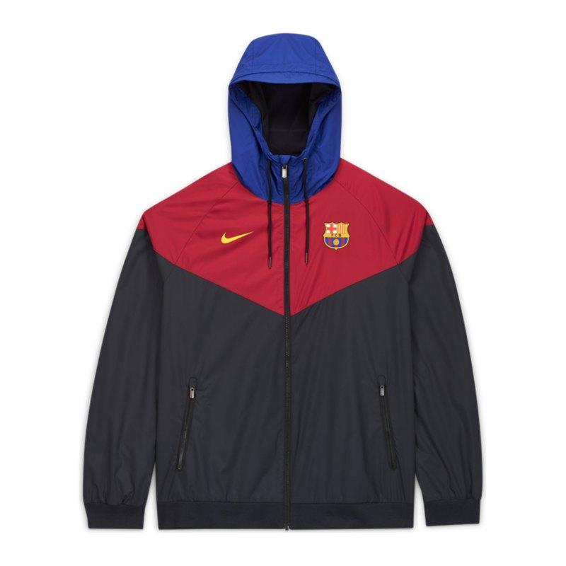 Nike FC Barcelona Woven Windrunner Schwarz F010 - schwarz