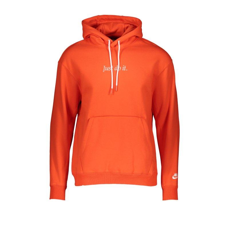 Nike JDI Fleece Kapuzenpullover Orange F891 - orange