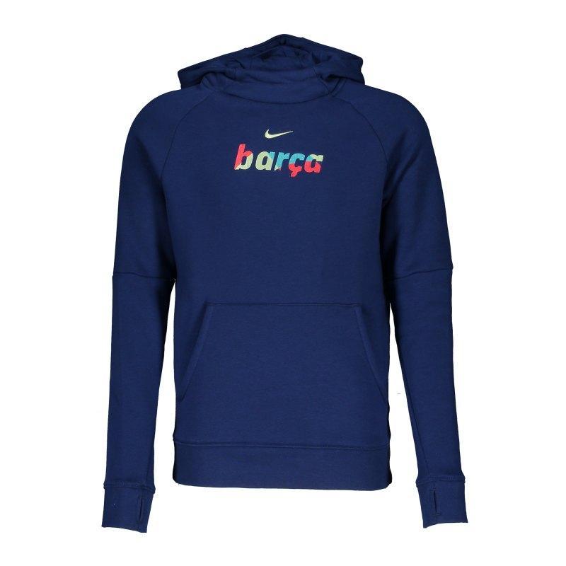 Nike FC Barcelona Hoody Kids Blau F492 - blau