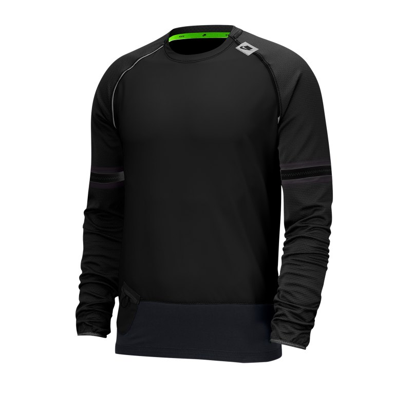 Nike Long-Sleeve Top T-Shirt langarm Running F010 - schwarz
