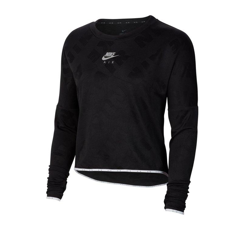 Nike Air Shirt Longsleve Damen Schwarz F010 - schwarz