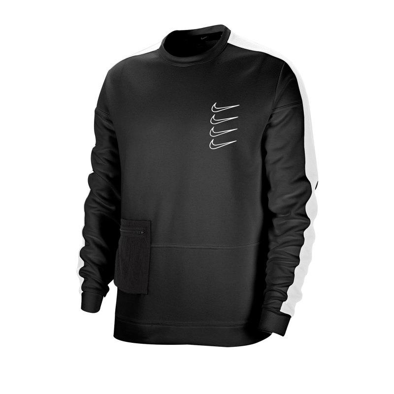 Nike Dri-FIT Fleece Sweatshirt Schwarz F010 - schwarz