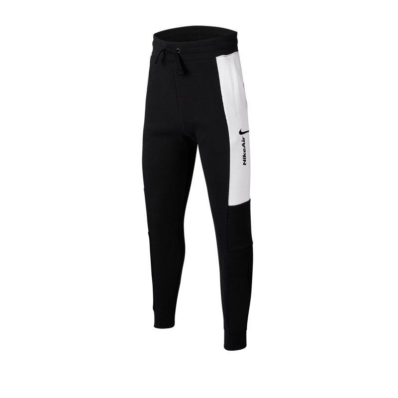 Nike Air Pants Hose lang Kids Schwarz Weiss F010 - schwarz