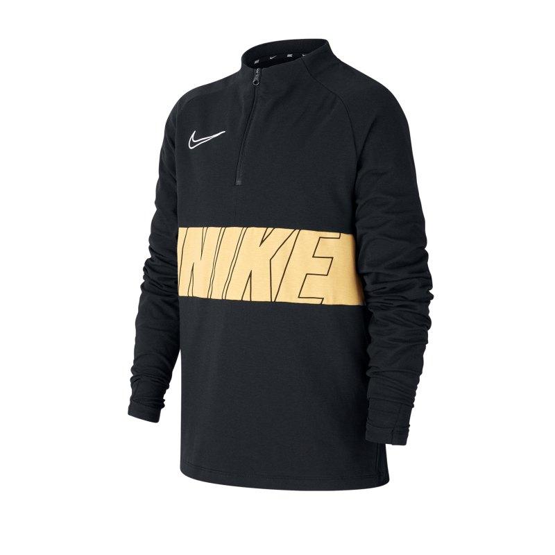 Nike Academy 1/4 Zip Top LS Kids F010 - schwarz