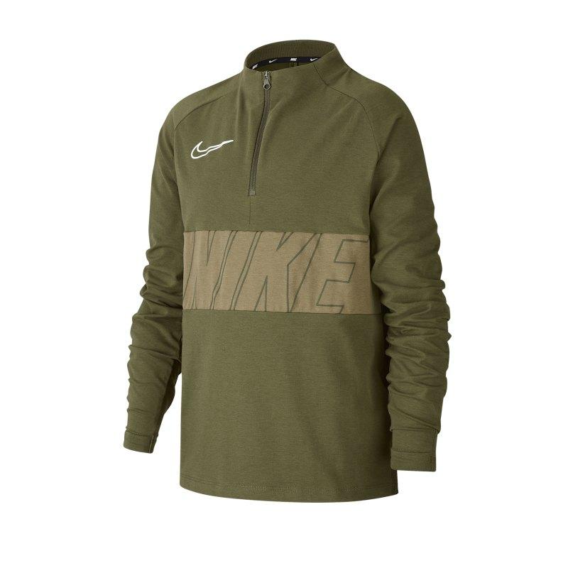 Nike Academy 1/4 Zip Top LS Kids F325 - gruen