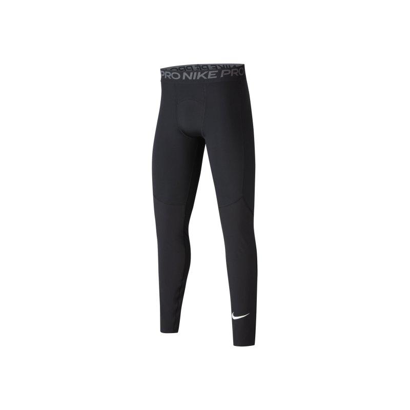 Nike Pro Training Tight Leggings Kids F010 - schwarz