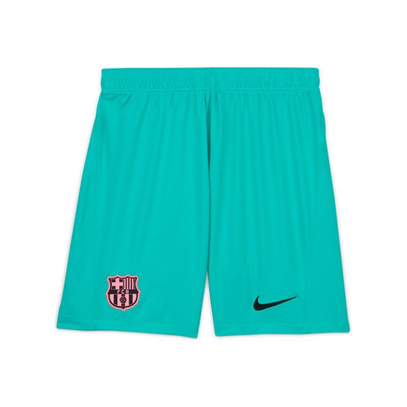 Nike FC Barcelona Short UCL 2020/2021 Grün F396 - gruen