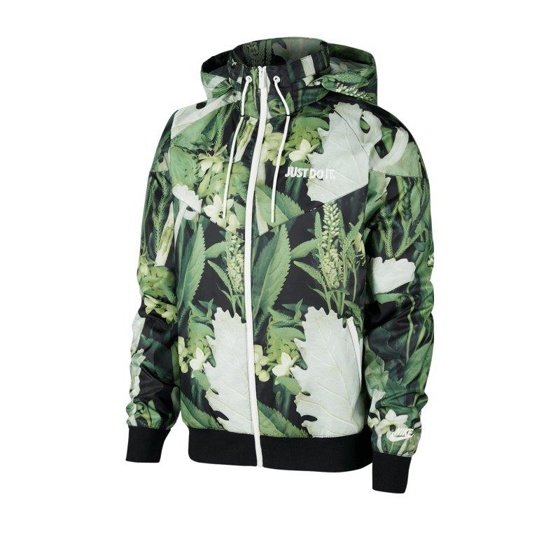 Nike Floral JDI Woven Windrunner Grün F083 - Gruen