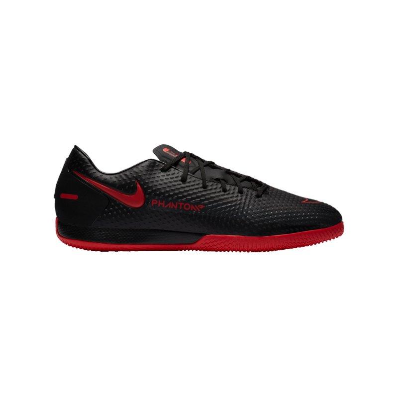 Nike Phantom GT Black X Chile Red Academy IC Schwarz F060 - schwarz