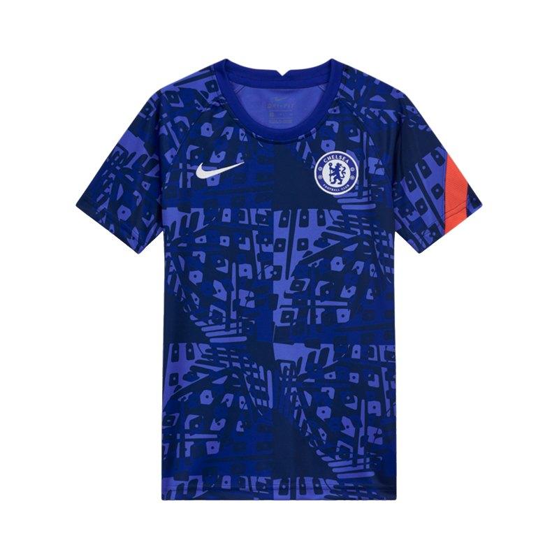 Nike FC Chelsea London Dry Trainingsshirt CL Kids Blau F472 - blau