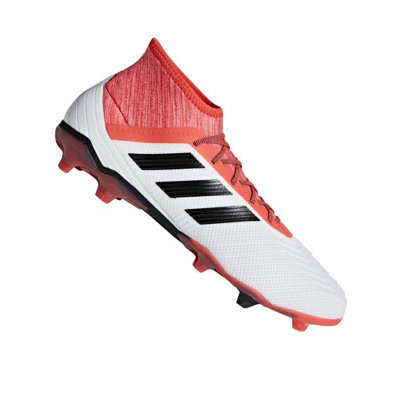 adidas Predator 18.2 FG Weiss Rot - weiss
