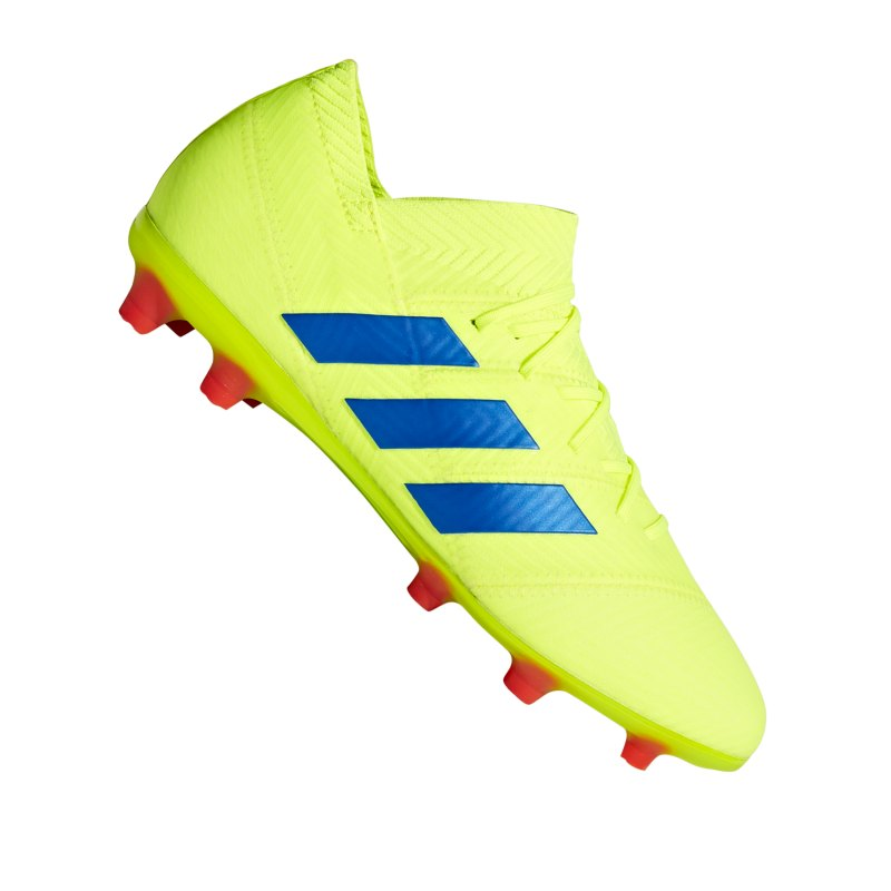 adidas NEMEZIZ 18.1 FG J Kids Gelb Blau - gelb