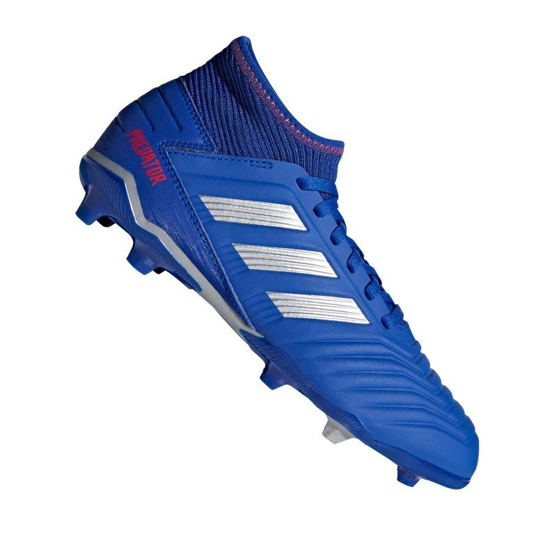 adidas Predator 19.3 FG J Kids Blau Silber - blau