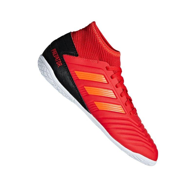adidas Predator 19.3 IN J Halle Kids Rot Schwarz - rot