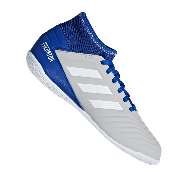 adidas Predator 19.3 IN J Halle Kids Grau Blau - grau