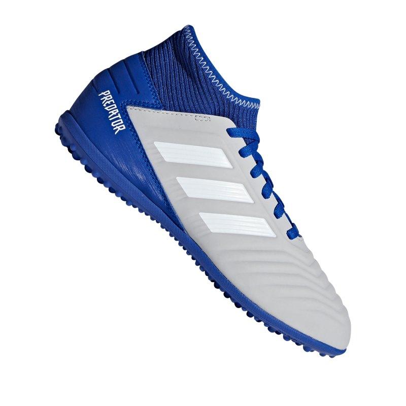 adidas Predator 19.3 TF J Kids Grau Blau - grau