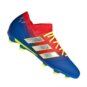 adidas NEMEZIZ Messi 18.1 FG J Kids Rot Blau - rot