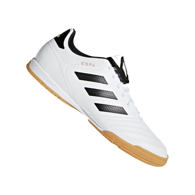 adidas COPA Tango 18.3 IN Halle Weiss Schwarz - schwarz