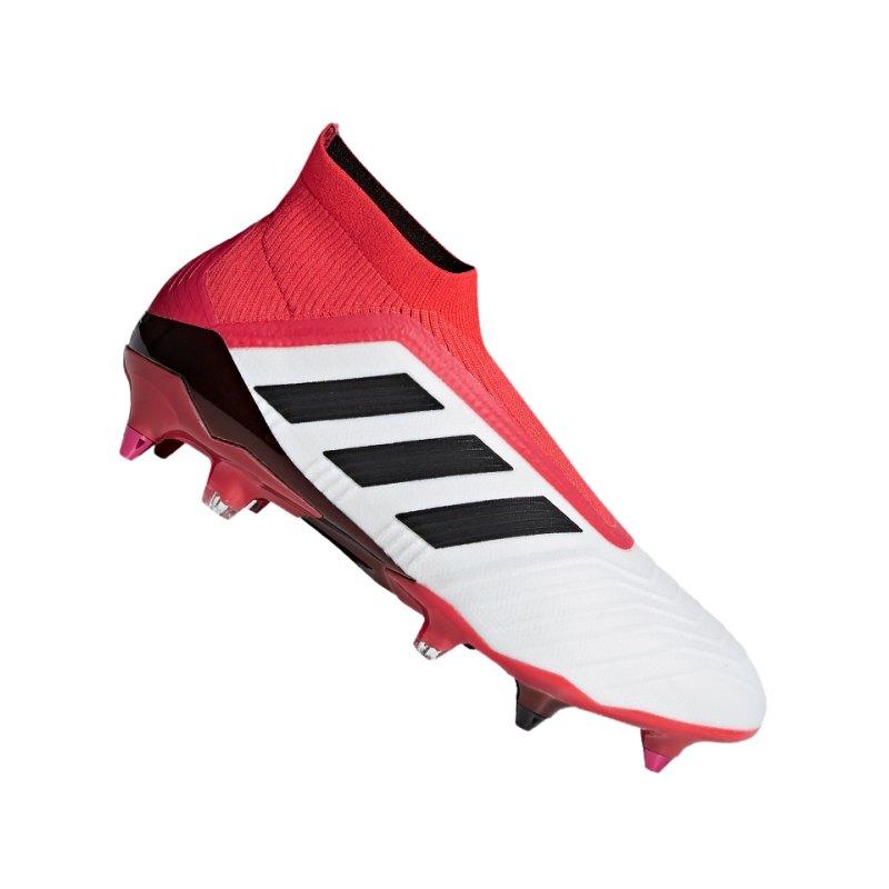 adidas Predator 18+ SG Weiss Rot - weiss