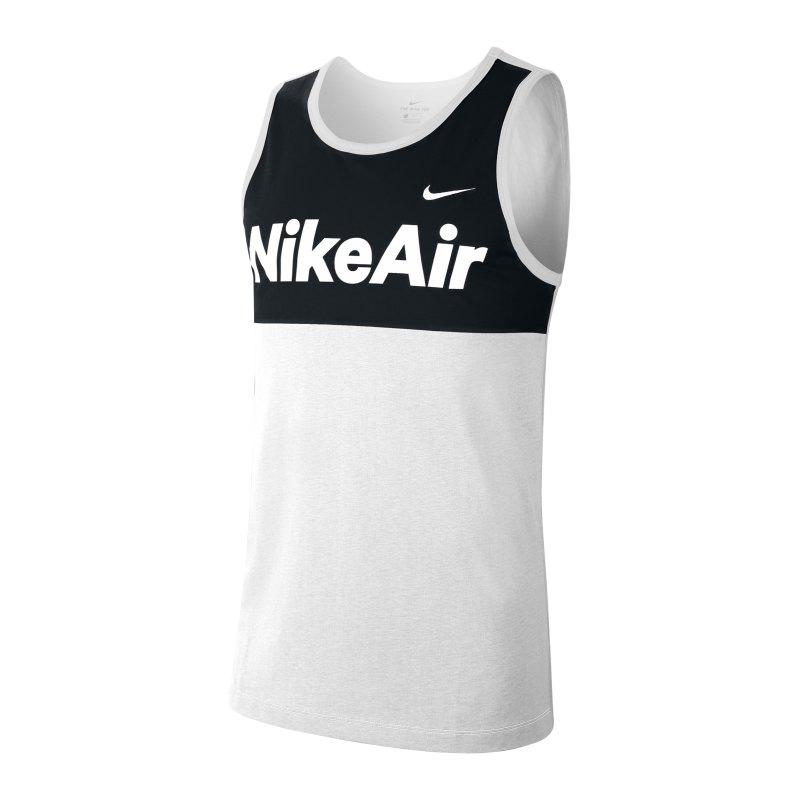 Nike Air Tanktop Weiss Schwarz F100 - weiss