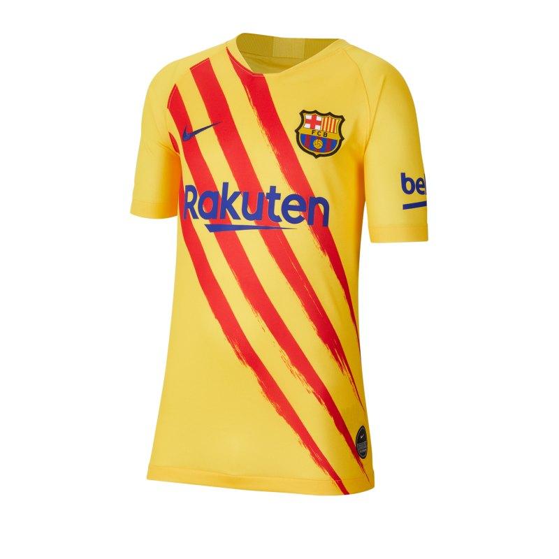 Nike FC Barcelona Shirt kurzarm Kids Gelb F727 - gelb