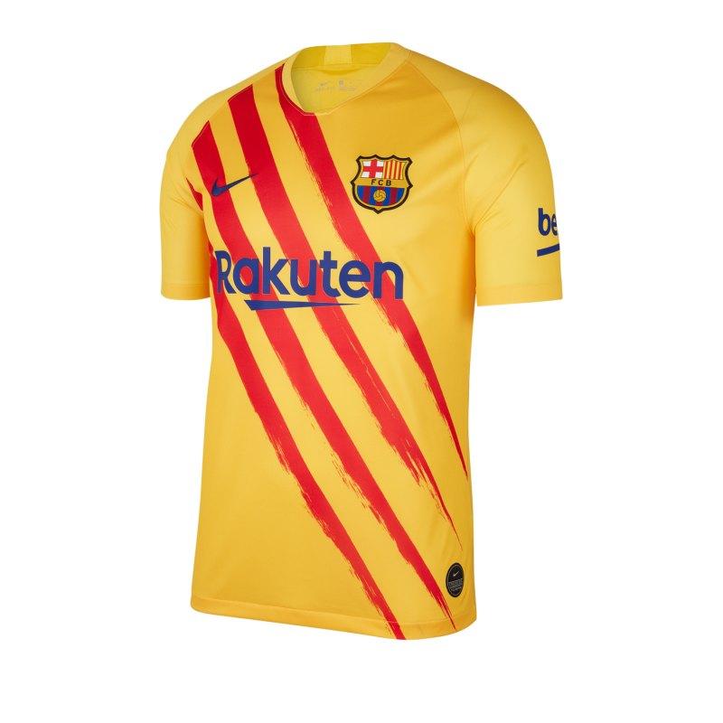 Nike FC Barcelona Shirt kurzarm Gelb F727 - gelb