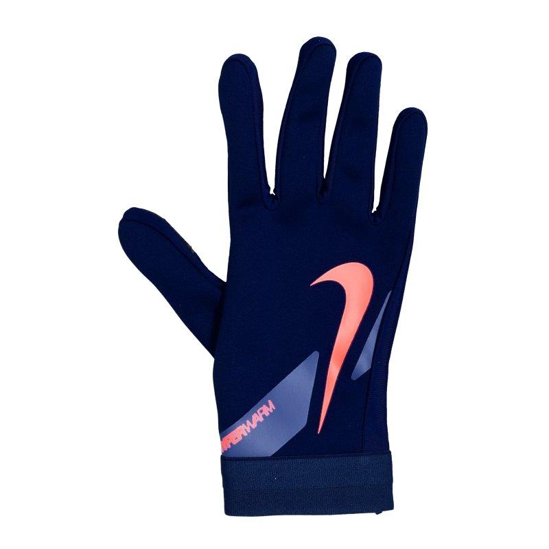 Nike Academy Hyperwarm Feldspielerhandschuhe F492 - blau