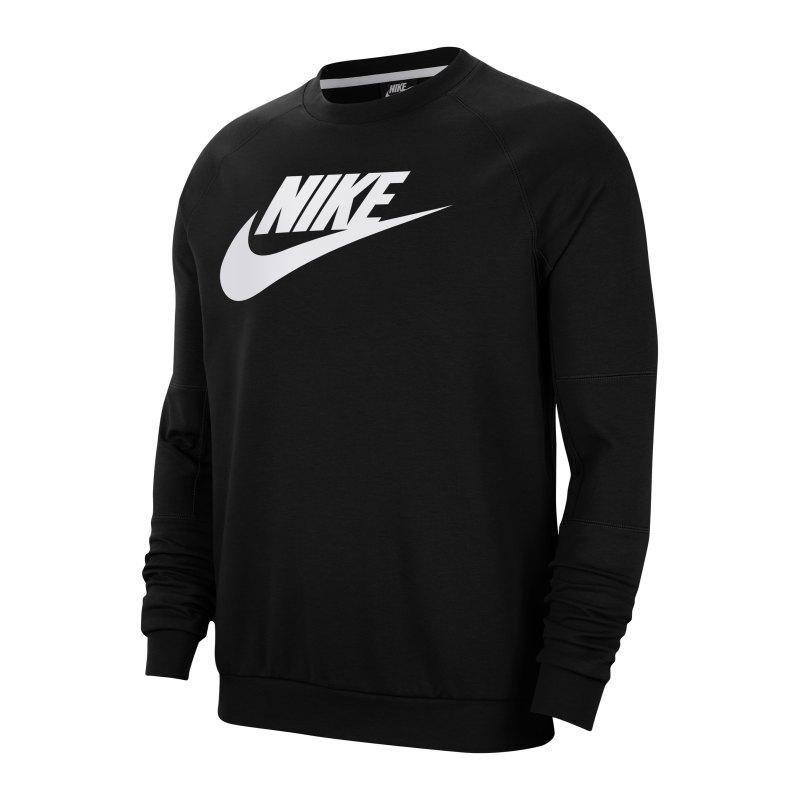 Nike Modern Fleece Crew Sweatshirt Schwarz F010 - schwarz