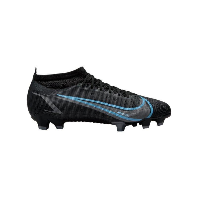 Nike Mercurial Vapor XIV Renew Pro FG Schwarz Blau F004 - schwarz