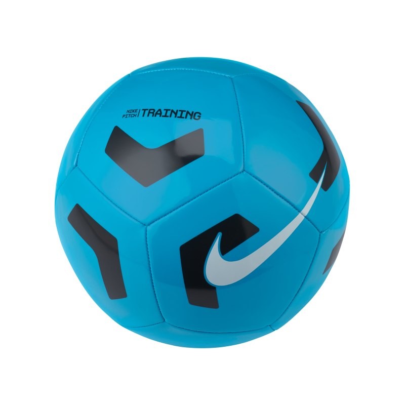 Nike Pitch Trainingsball Blau Schwarz F434 - blau