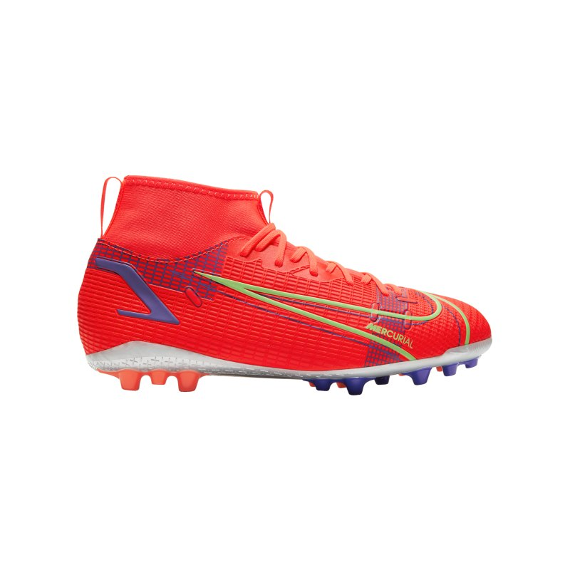 Nike Jr Mercurial Superfly VIII Spectrum Academy AG Kids Rot F600 - rot