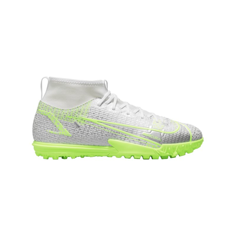 Nike Jr Mercurial Superfly VIII Safari Academy TF Kids Weiss F107 - weiss