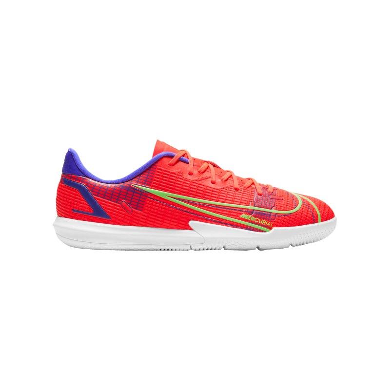Nike Jr Mercurial Vapor XIV Spectrum Academy IC Kids Rot F600 - rot