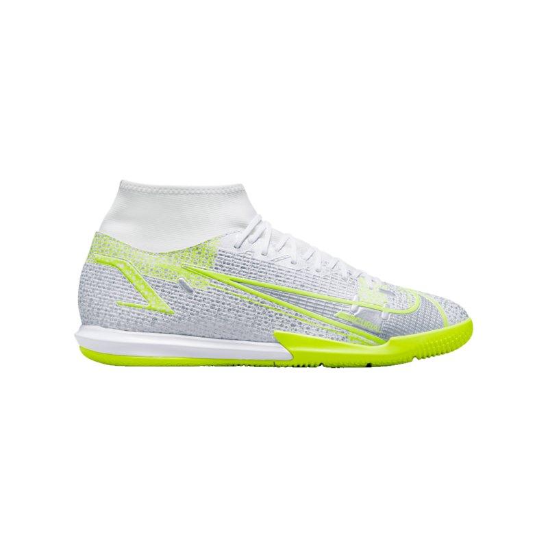 Nike Mercurial Superfly VIII Safari Academy IC Weiss F107 - weiss