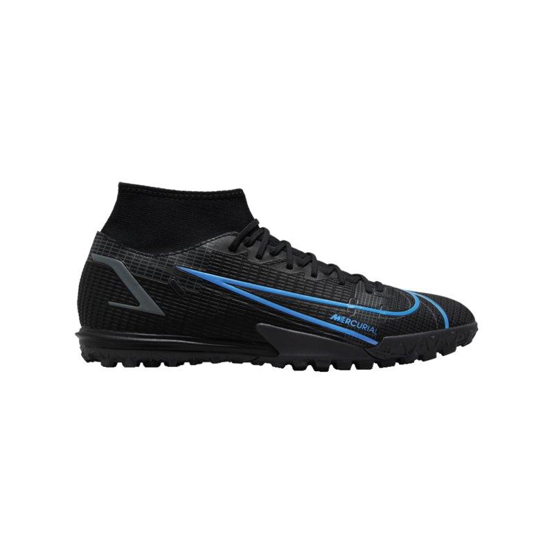 Nike Mercurial Superfly VIII Renew Academy TF Schwarz F004 - schwarz